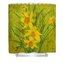 Daffodils Too Shower Curtain
