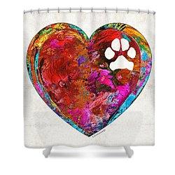 Dog Art - Puppy Love 2 - Sharon Cummings Shower Curtain by Sharon Cummings