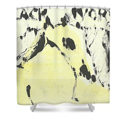 Dog At The Beach - Black Ivory 1 Shower Curtain