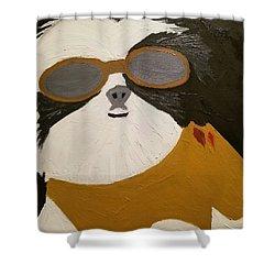 Dog Boss Shower Curtain by J Cv
