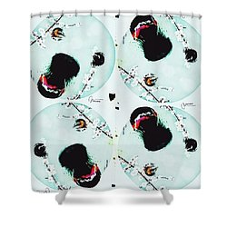 Dog Blossoms  Shower Curtain