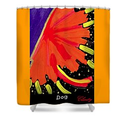 Shower Curtain featuring the painting Dog by Clarity Artists