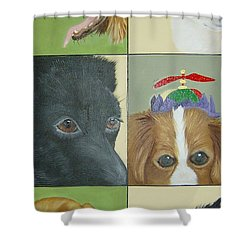 Dog Faces Of Love Shower Curtain