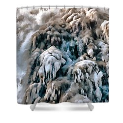 Dog Falls Shower Curtain by Jim Proctor