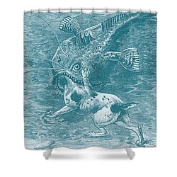 Dog Fish Shower Curtain