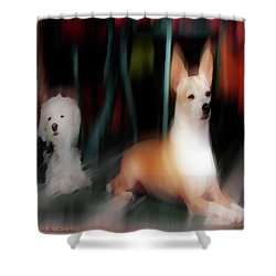 Dog Love Art 5 Shower Curtain