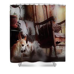 Dog Love Art  Shower Curtain