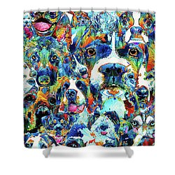Dog Lovers Delight - Sharon Cummings Shower Curtain by Sharon Cummings