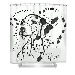 Dog Spot Shower Curtain