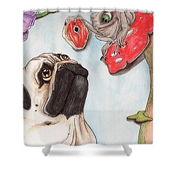 Dog Treat Shower Curtain