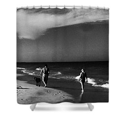 Dog Walk Shower Curtain