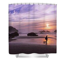 Dog Walker Shower Curtain