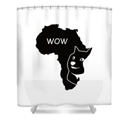 Dogecoin In Africa Shower Curtain by Michael Jordan