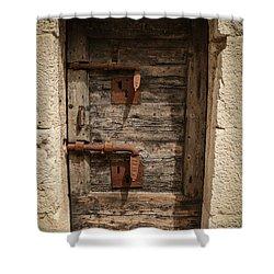 Doge's Jail Door Shower Curtain by Kathleen Scanlan