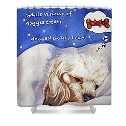 Doggie Dreams Shower Curtain
