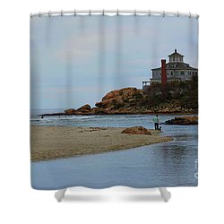 Dogs And Surf Shower Curtain