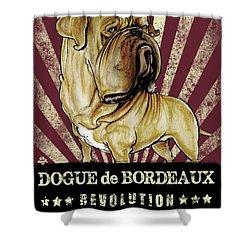 Dogue De Bordeaux Revolution Shower Curtain
