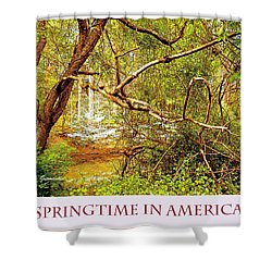 Shower Curtain featuring the photograph Dogwood Tree In The Forest Spring by A Gurmankin