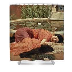 Dolce Far Niente Shower Curtain by John William Godward