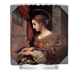 Dolci Carlo St Cecilia At The Organ Shower Curtain by Carlo Dolci