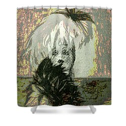 Shower Curtain featuring the photograph Doll Face  ... by Chuck Caramella
