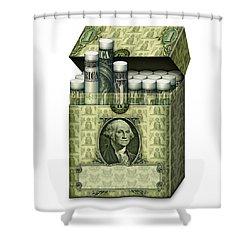 Dollar Cigarettes Shower Curtain