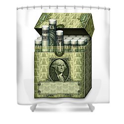 Dollar Cigarettes Shower Curtain
