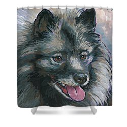 Shower Curtain featuring the painting Dollie by Nadi Spencer
