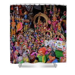 Dolls In The Shop Window Shower Curtain