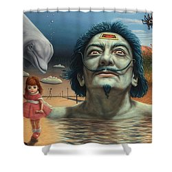 Dolly In Dali-land Shower Curtain