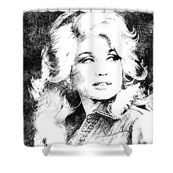 Dolly Parton Bw Portrait Shower Curtain