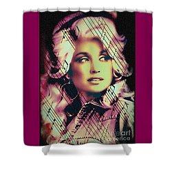 Dolly Parton - Digital Art Painting Shower Curtain