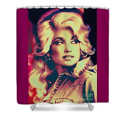 Dolly Parton - Vintage Painting Shower Curtain