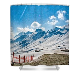 Dolomites 3 Shower Curtain