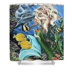 Dolphin Mermaid Shower Curtain