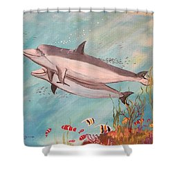 Dolphin Tales Shower Curtain