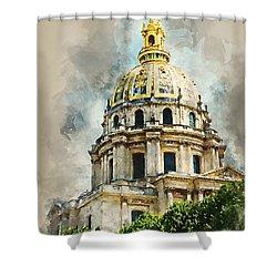 Dome Des Invalides Shower Curtain