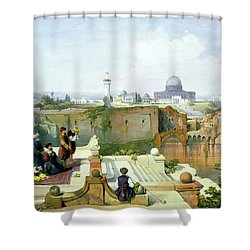 Dome Of The Rock In The Background Shower Curtain