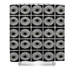 Shower Curtain featuring the digital art Domed Kaleidescope by Ellen Barron O'Reilly