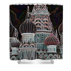 Domes Of St. Basil Cw Shower Curtain by Steven Liveoak
