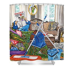 Domestic Abuse Shower Curtain