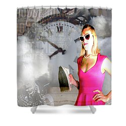 Domestic Considerations Drama Shower Curtain