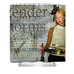 Domestic Considerations  Gender Norms Shower Curtain by Ann Tracy
