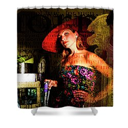 Domestic Considerations O Yeah? Shower Curtain by Ann Tracy