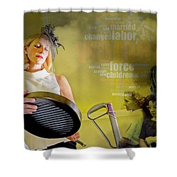 Domestic Considerations Same Old Shower Curtain by Ann Tracy