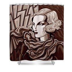 Dominique In Sepia Tone Shower Curtain by Tara Hutton