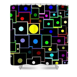 Domino Effect  Shower Curtain by Will Borden