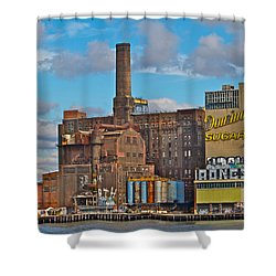 Domino Sugar Water View Shower Curtain by Alice Gipson