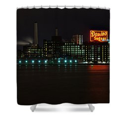 Domino Sugars Wide Shower Curtain by Mark Dodd