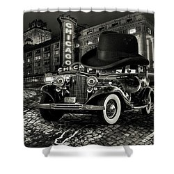 Don Cadillacchio Black And White Shower Curtain